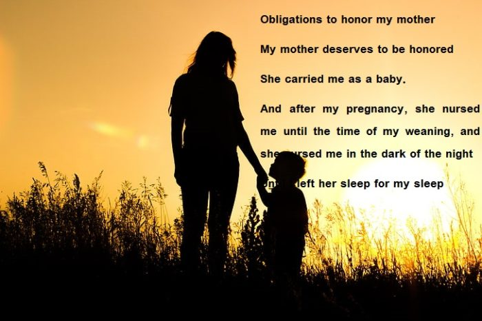 Arabic poems about mother